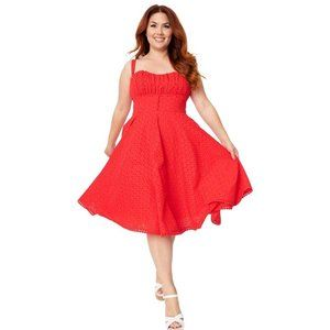Timeless London Valerie Red Anglaise Dress